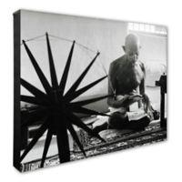 Photo File Mohandas Gandhi 20-Inch x 24-Inch Photo Canvas Wall Art