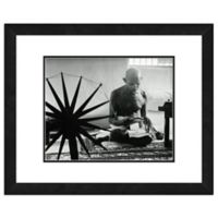 Photo File Mohandas Gandhi 18-Inch x 22-Inch Framed Photo Wall Art