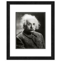 Trademark Fine Art 22-Inch x 26-Inch Albert Einstein Framed Wall Art