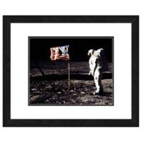 Apollo 11 Buzz Aldrin Man on the Moon 18-Inch x 22-Inch Canvas Wall Art