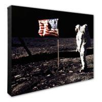 Apollo 11 Buzz Aldrin Man on the Moon 16-Inch x 20-Inch Canvas Wall Art