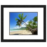 Beach Palm Trees 18-Inch x 22-Inch Framed Wall Art