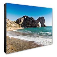 Beach Rock Formation 16-Inch x 20-Inch Photo Canvas Wall Art