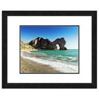 Beach Rock Formation 20-Inch x 24-Inch Framed Wall Art