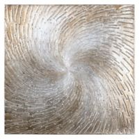 Whirling Strokes of Copper Canvas Wall Art