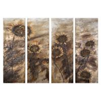 Sunflowers 4-Panel 78.5-Inch x 59-Inch Canvas Wall Art