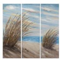 Yosemite Home Décor Shore Grass 47.5-Inch x 47.5-Inch Canvas Wall Art