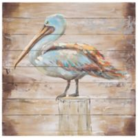 Yosemite Home Décor Rustic and Winged 28-Inch Square Wood Wall Art