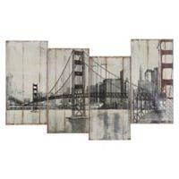 Golden Gate Bridge 39-Inch x 24-Inch Wood Wall Art