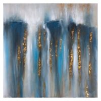 Yosemite Home Décor Rush of Water Mixed Media 40-Inch Square Canvas Wall Art