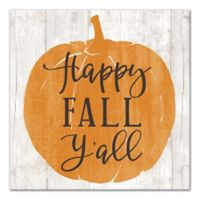 """Designs Direct """"Happy Fall Y'all"""" 12-Inch Square Canvas Wall Art"""