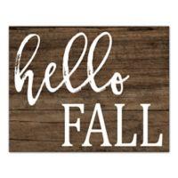 "Designs Direct ""Hello Fall"" 12-Inch x 19-Inch Canvas Wall Art"