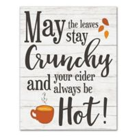 """Designs Direct """"May the Leaves Stay Crunchy"""" 14-Inch x 11-Inch Canvas Wall Art"""