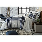 UGG® Dakota Plaid Cotton Flannel King Duvet Cover in Navy