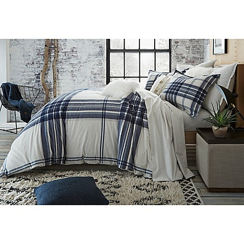 image of UGG® Dakota Plaid Cotton Flannel Duvet Cover