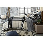 UGG® Dakota Plaid Cotton Flannel King Duvet Cover in Charcoal