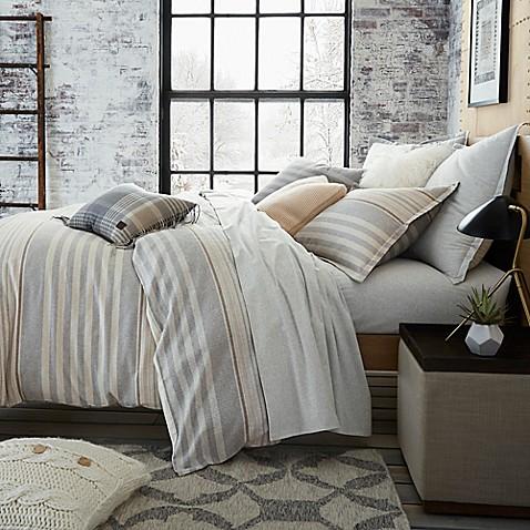 Ugg 174 Lunar Stripe Cotton Flannel Duvet Cover Bed Bath
