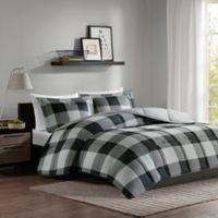 Madison Park Essentials Barrett Full/Queen Comforter Set in Grey/Black