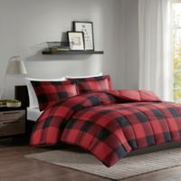 Madison Park Essentials Barrett Twin/Twin XL Comforter Set in Red/Black
