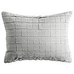 DKNYpure® Comfy Applique Strip Oblong Throw Pillow in Platinum