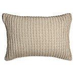 DKNYpure® Comfy Knitted Oblong Throw Pillow in Linen