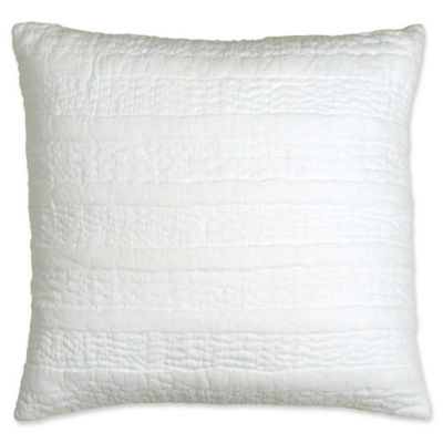 dknypure comfy quilted voile square throw pillow in white