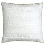 DKNYpure® Comfy Quilted Voile Square Throw Pillow in White
