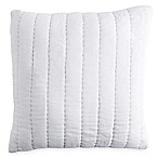 DKNYpure® Comfy Quilted Voile Square Throw Pillow in Linen