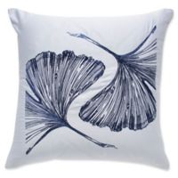 Frette At Home Sanremo Square Throw Pillow in Light Blue/Blue