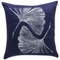 Frette At Home Sanremo Square Throw Pillow in Blue/Light Blue