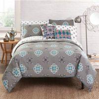 Amrita Sen Jaisalmer Reversible California King Comforter Set in Grey