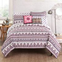 Amrita Sen Nandini Reversible California King Comforter Set in Pink