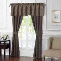 Waterford® Glenmore 84-Inch Rod Pocket Window Curtain Panel Pair in Mink