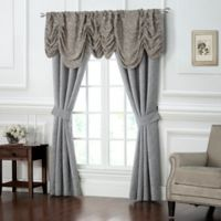 Waterford® Carrick 84-Inch Rod Pocket Window Curtain Panel Pair in Silver