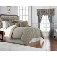 Waterford® Carrick Queen Comforter Set in Silver/Gold
