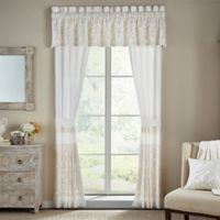 Croscill® Cela 84-Inch Rod Pocket Window Curtain Panel Pair in Ivory