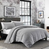 Eddie Bauer® Preston Flannel Twin Comforter Set in Grey
