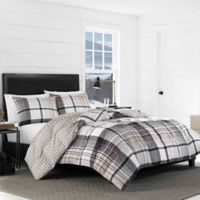 Eddie Bauer® Normandy Plaid Reversible King Comforter Set in Black