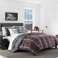 Eddie Bauer® Willow Plaid Flannel Twin Comforter Set in Grey