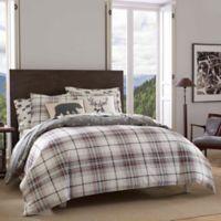 Eddie Bauer® Alder Plaid Twin Reversible Comforter Set in Black