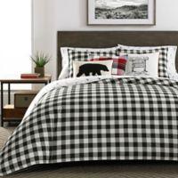 Eddie Bauer® Mountain Plaid Twin Comforter Set in Black