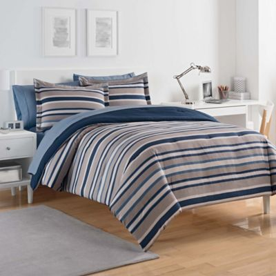 Buy Blue Grey Reversible Comforter from Bed Bath Beyond