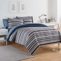 IZOD® Bradley Stripe King Comforter Set in Blue/Grey