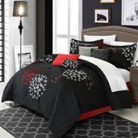 Chic Home Budz 12-Piece Queen Comforter Set in Black