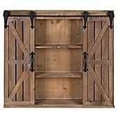 Cates Storage Cabinet with Barn Doors in Brown  sc 1 st  Bed Bath \u0026 Beyond & Zig Zag Five Level Corner Wall Mount Shelf - Bed Bath \u0026 Beyond