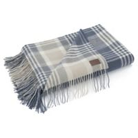 UGG® Charger Plaid Wool Throw Blanket in Ocean