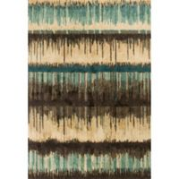KAS Barcelona Palma 2-Foot 7-Inch x 4-Foot 11-Inch Accent Rug in Sand/Teal