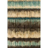 KAS Barcelona Palma 7-Foot 10-Inch x 11-Foot 2-Inch Area Rug in Sand/Teal