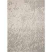 "Nourison Maxell 3'10"" x 5'10"" Machine Woven Area Rug in Ivory/Grey"