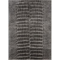 "Nourison Maxell 3'10"" x 5'10"" Machine Woven Area Rug in Charcoal"